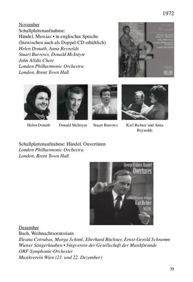 39 November Schallplattenaufnahme: Händel, Messias • in englischer Sprache (Inzwischen auch als Doppel-CD erhältlich) Hele...