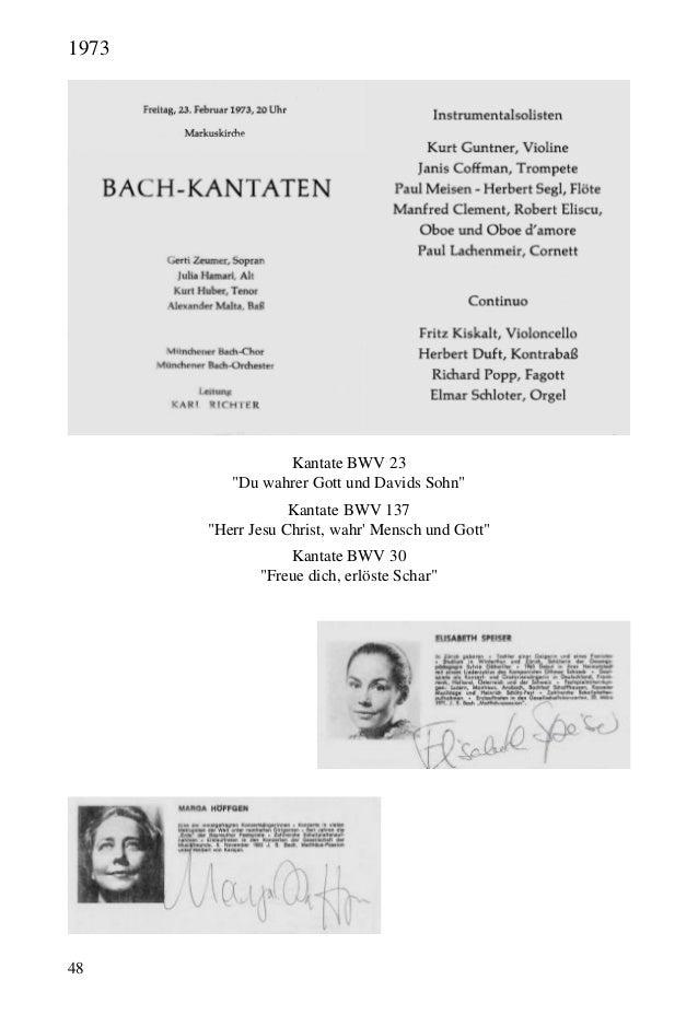 """48 Kantate BWV 23 """"Du wahrer Gott und Davids Sohn"""" Kantate BWV 137 """"Herr Jesu Christ, wahr' Mensch und Gott"""" Kantate BWV 3..."""
