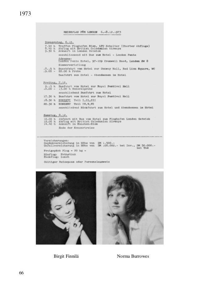 66 Birgit Finnilä Norma Burrowes 1973