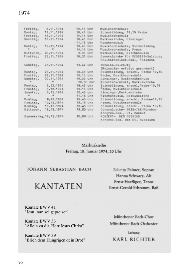 """76 Kantate BWV 41 """"Jesu, nun sei gepreiset"""" Kantate BWV 33 """"Allein zu dir, Herr Jesus Christ"""" Kantate BWV 39 """"Brich dem Hu..."""