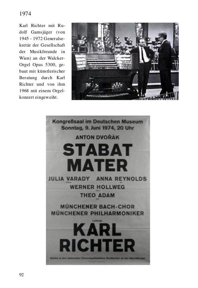 92 Karl Richter mit Ru- dolf Gamsjäger (von 1945 - 1972 Generalse- kretär der Gesellschaft der Musikfreunde in Wien) an de...
