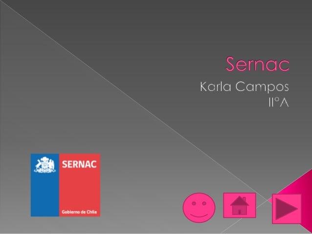  Diapositiva 1: Portada  Diapositiva 2: Índice  Diapositiva 3 : ¿Qué es el Sernac?  Diapositiva 4: Derechos del consum...