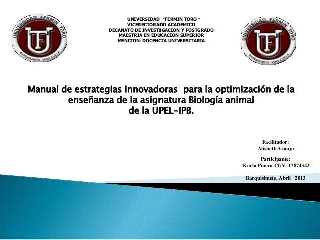 """UNIVERSIDAD """"FERMIN TORO """"                        VICERECTORADO ACADEMICO                  DECANATO DE INVESTIGACION Y POS..."""
