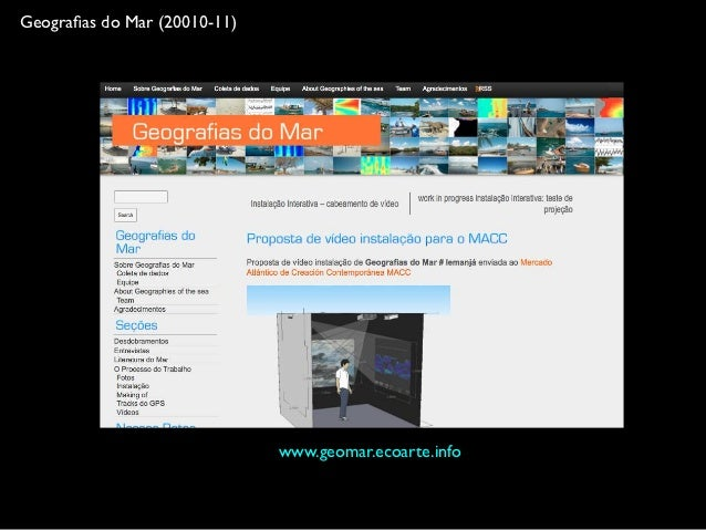 Mapa, código e mar: processo de criação do projeto ma:res Slide 3