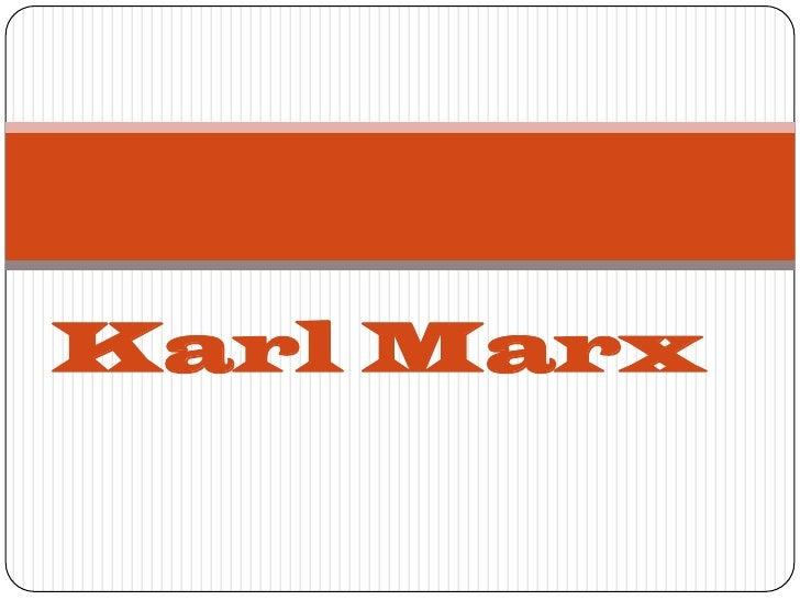 Karl Marx<br />