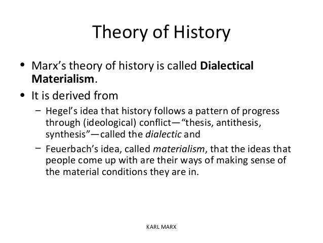 Karl marx theory of dialectical materialism pdf
