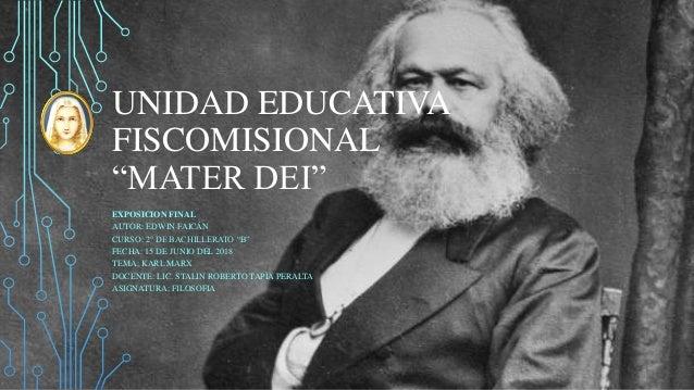 """UNIDAD EDUCATIVA FISCOMISIONAL """"MATER DEI"""" EXPOSICION FINAL AUTOR: EDWIN FAICÁN CURSO: 2° DE BACHILLERATO """"B"""" FECHA: 15 DE..."""