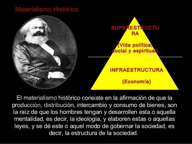 El materialismo histórico consiste en la afirmación de que la producción, distribución, intercambio y consumo de bienes, s...