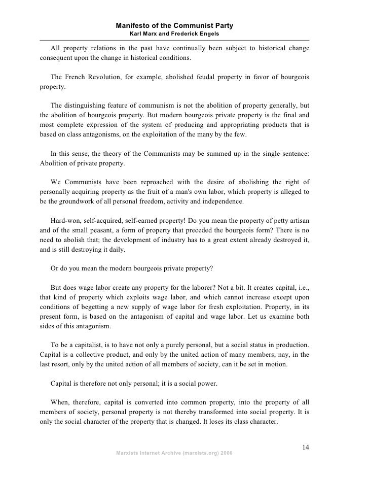 an analysis of the bourgeois and proletarians in the manifesto of the communist party by karl marx a The communist manifesto written by karl marx and frederick it is necessary to think about the manifesto of the communist party in this assignment and to focus our attention on the we should mention that the manifest showed a depressed position of the proletariat in the bourgeois.