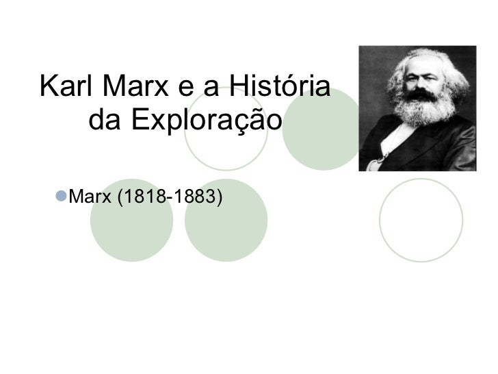 Karl Marx e a História da Exploração <ul><li>Marx (1818-1883) </li></ul>