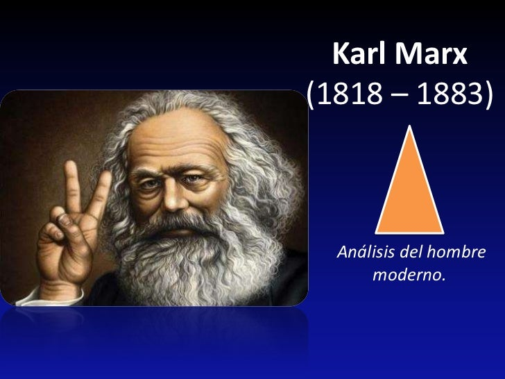Karl Marx(1818 – 1883)  Análisis del hombre      moderno.