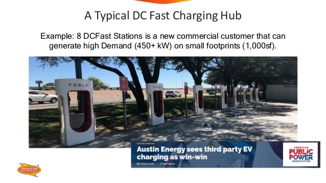 A Typical DC Fast Charging Hub Example: 8 DCFast Stations is a new commercial customer that can generate high Demand (450+...