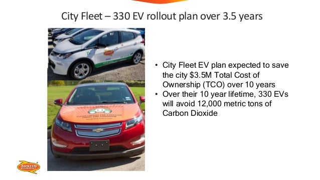 City Fleet – 330 EV rollout plan over 3.5 years • City Fleet EV plan expected to save the city $3.5M Total Cost of Ownersh...