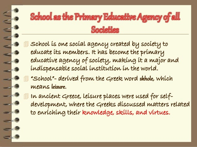school as a social institution of the society