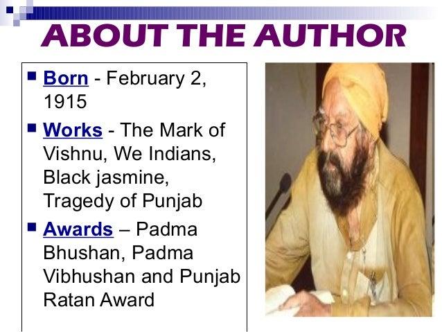 Karma by Khushwant singh  Slide 2