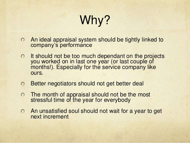 an ideal appraisal system in outline form Outlining a performance appraisal program is the easy [ideal performance management system] determine what type of performance appraisal form.