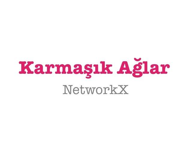 Karmaşık Ağlar  NetworkX