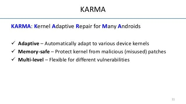 KARMA: Adaptive Android Kernel Live Patching