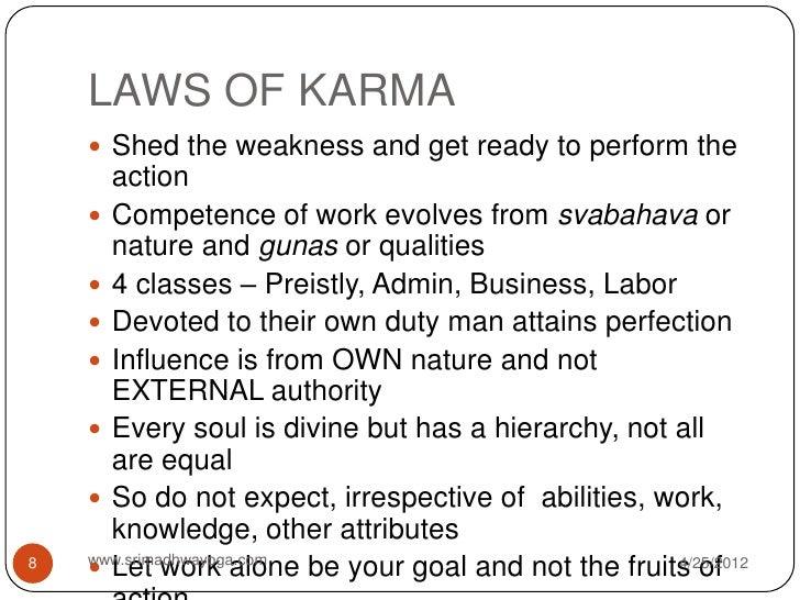 8 LAWS OF KARMA