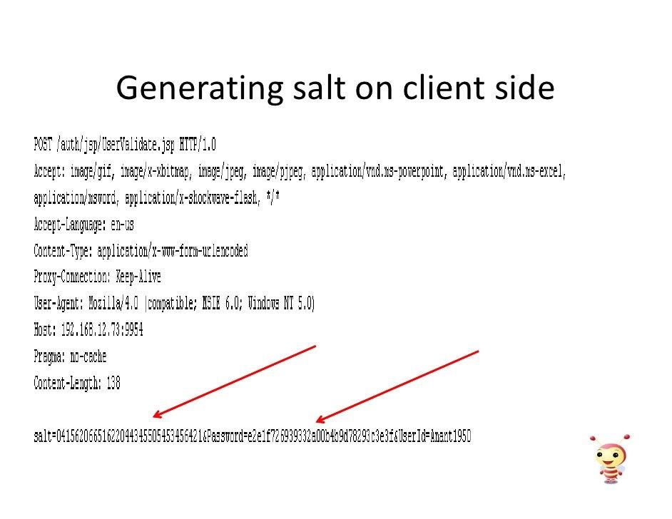 Generating salt on client side