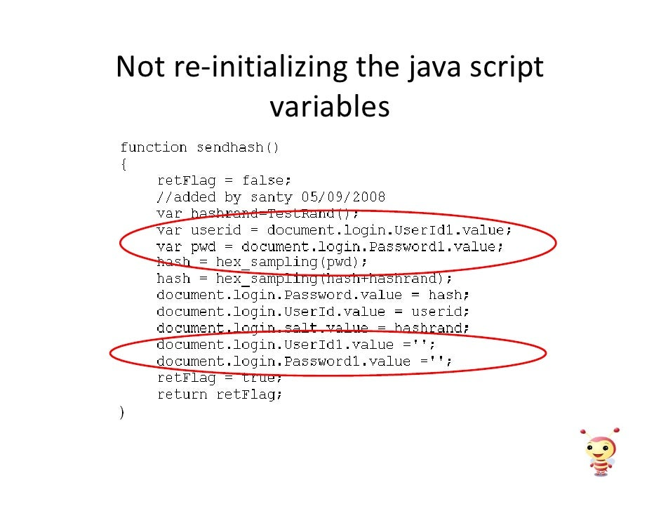 Not re-initializing the java script             variables