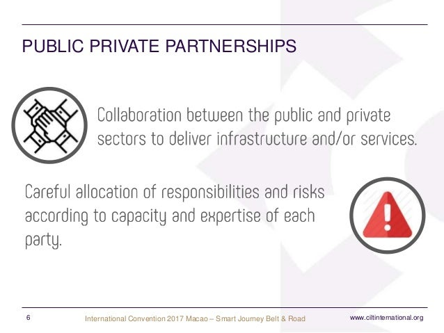 public private partnership for infrastructural growth Are you financing or structuring public-private partnerships in infrastructure the ppplrc can help it contains sample public-private partnership (ppp) agreements and concessions, checklists and sample clauses, terms of reference, risk matrices, standard bidding documents developed by government agencies and sample ppp and sector legislation .