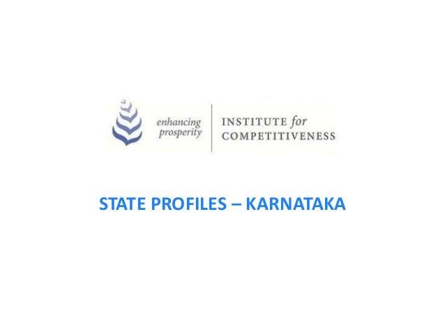 STATE PROFILES – KARNATAKA