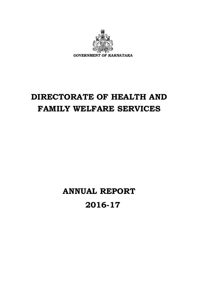 Karnataka Directorate of Health and Family Welfare ...