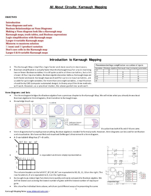 Karnaugh mapping allaboutcircuits 1 karnaughmapping notes allaboutcircuits all about circuits karnaugh mapping objectives ccuart Images