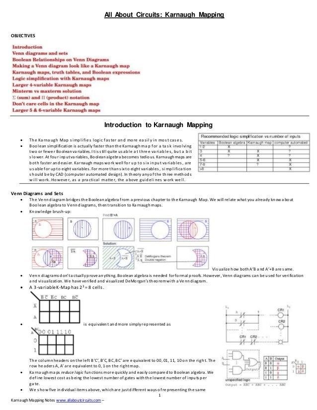 Karnaugh Mapping Allaboutcircuits