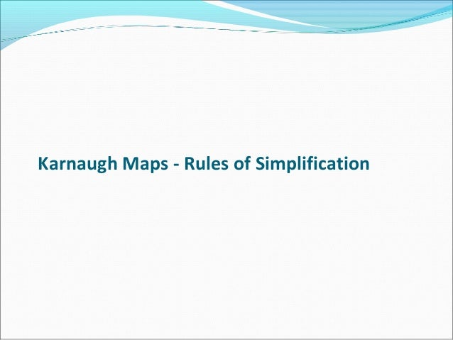 Karnaugh map Slide 3