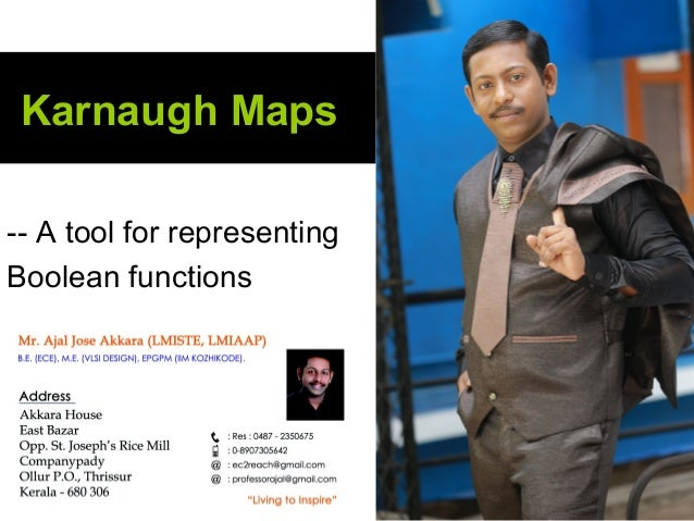 Karnaugh Maps -- A tool for representing Boolean functions