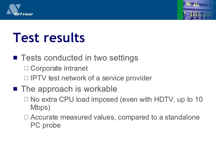 Test results <ul><li>Tests conducted in two settings </li></ul><ul><ul><li>Corporate intranet </li></ul></ul><ul><ul><li>I...