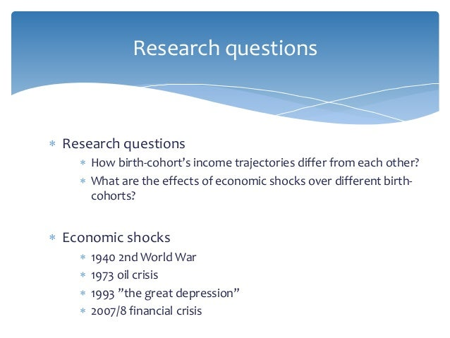economic inequality the life course perspective over economic shocks  5  research questions