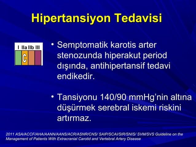 HİPERLİPİDEMİ KONTROLÜHİPERLİPİDEMİ KONTROLÜ Extrakraniyal karotis arterosklerozu olanExtrakraniyal karotis arterosklerozu...