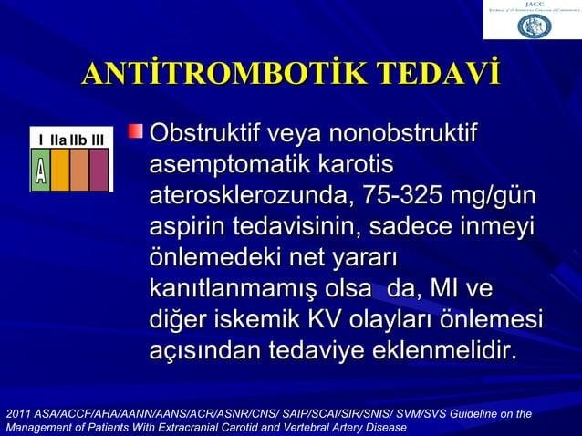 Antitrombotik TedaviAntitrombotik Tedavi Eşlik eden KV hastalığı olmayan inmeEşlik eden KV hastalığı olmayan inme hastalar...