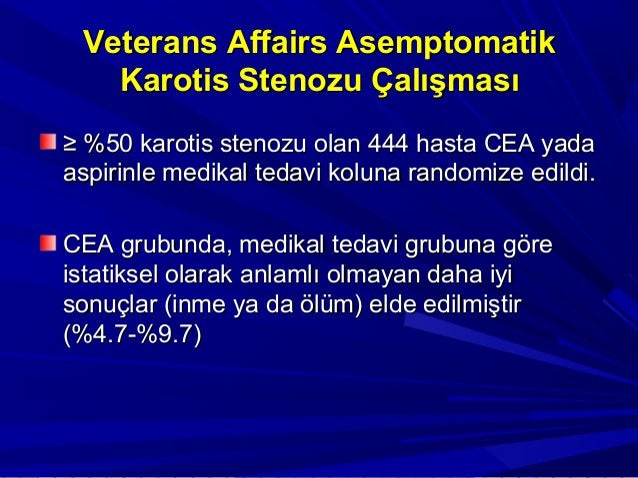 Semptomatik Düşük RiskliSemptomatik Düşük Riskli HastalarHastalar 1) Kuzey Amerika Semptomatik Karotis1) Kuzey Amerika Sem...