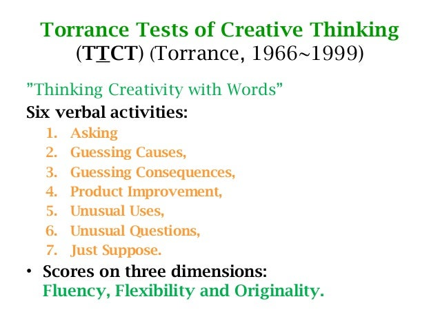 torrance test of creative thinking sample