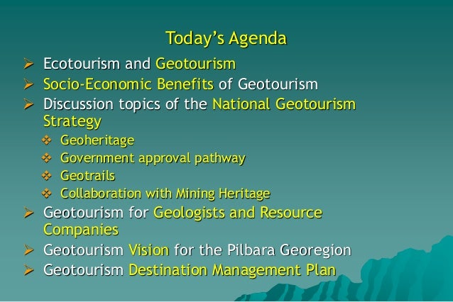 Enhancing the Pilbara Georegion Through Geotourism by Angus M Robinson Slide 3