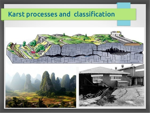 Karst processes and classification
