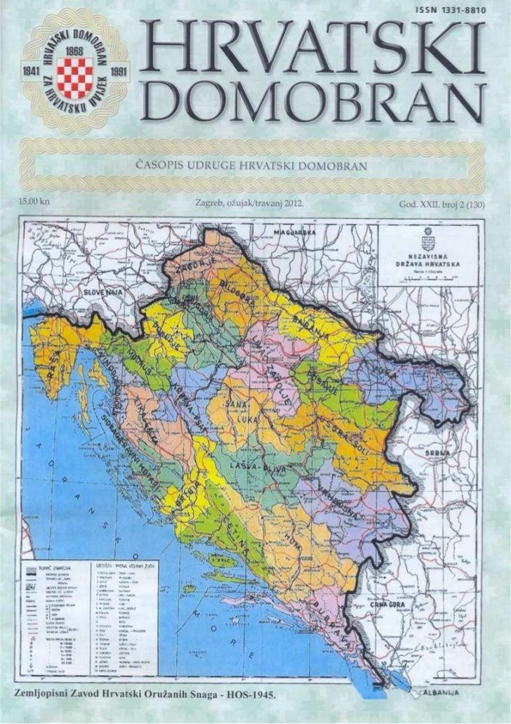 Karta NDH  kakav je bila 1941.-43 i 1943.-1945.