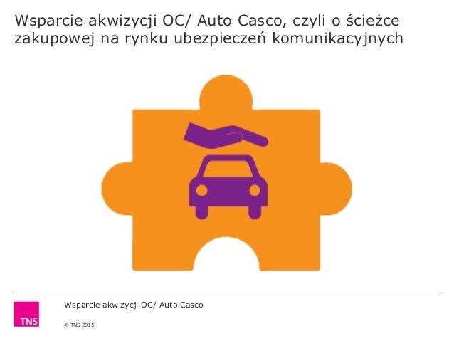 Wsparcie akwizycji OC/ Auto Casco © TNS 2015 Wsparcie akwizycji OC/ Auto Casco, czyli o ścieżce zakupowej na rynku ubezpie...