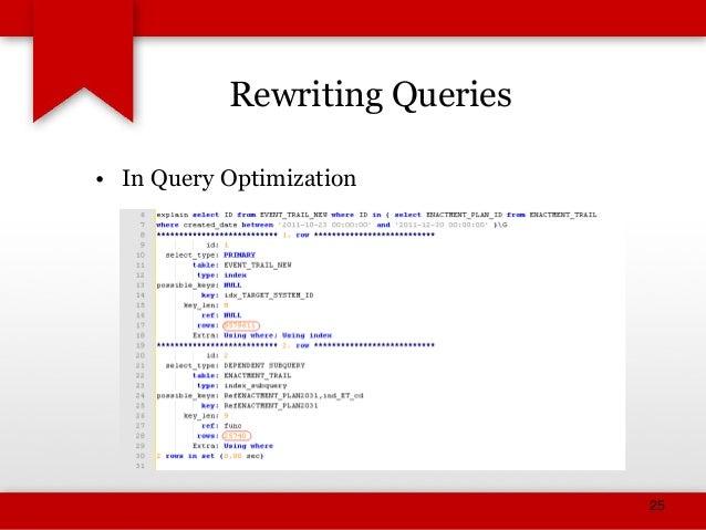 MySQL Query Optimization (Basics) slideshare - 웹