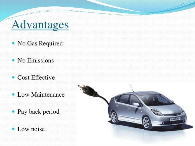 Advantages Of Electric Cars Over Petrol Cars