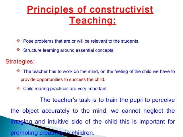 Constructivism and the Developing Child