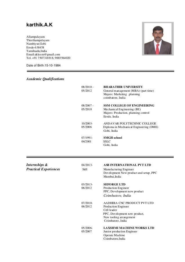karthik international cv