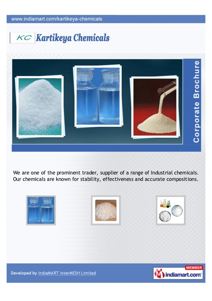 We are one of the prominent trader, supplier of a range of Industrial chemicals.Our chemicals are known for stability, eff...