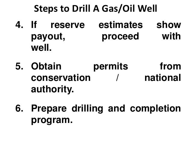 oil & gas drilling preliminaries
