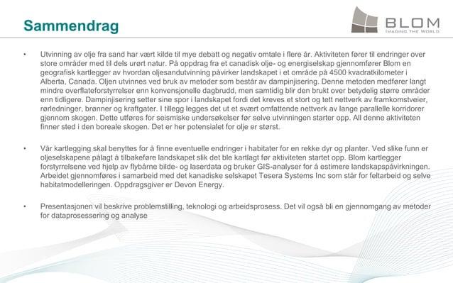 Kartlegging av oljesandforekomster ved hjelp av laserdata - Esri norsk BK