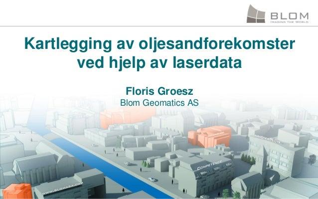 Kartlegging av oljesandforekomster ved hjelp av laserdata Floris Groesz Blom Geomatics AS